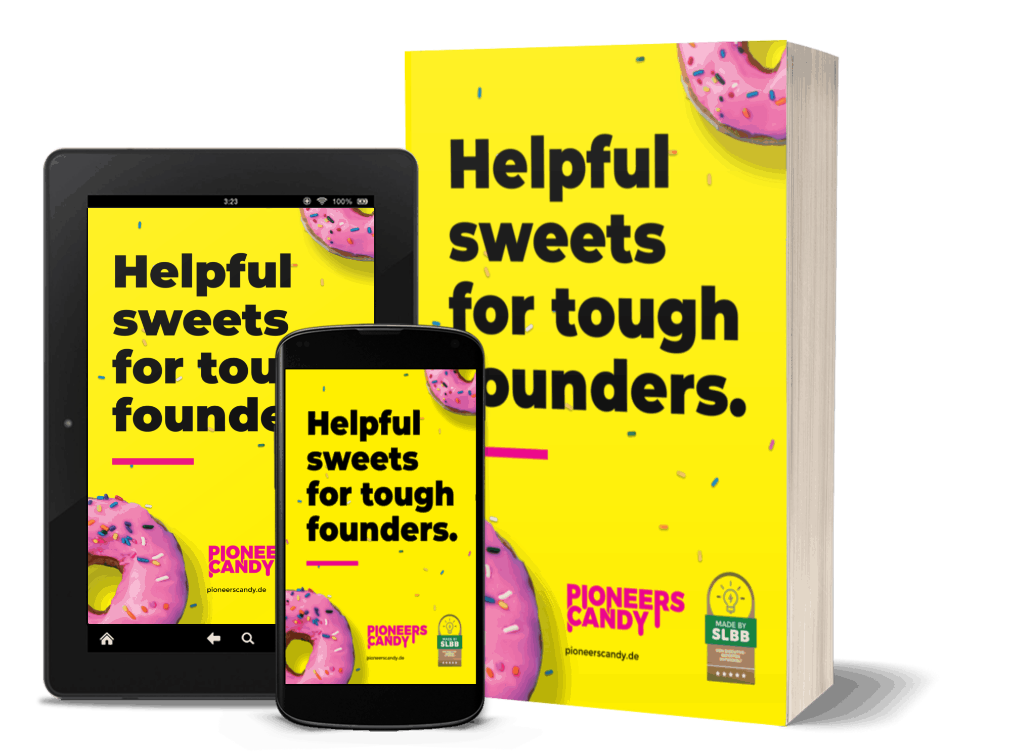 Gratis eBook - Helpful sweets for tough founders.